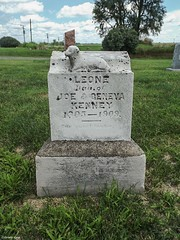 Pleasant Valley Cemetery (Gabrielle Gaia) Tags: summer cemetery grave graveyard illinois tombstone il gravestone kenny