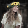 Sunflowers (arbyreed) Tags: arbyreed girl woman pretty cute flowers happy happysmile flowersinhair utahcountyutah