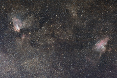 Eagle and Omega Nebula (Andrew Klinger) Tags: