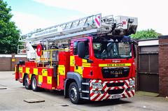 WX60ACO (firepicx) Tags: county durham darlington fire rescue service man aerial ladder platform alp based station callsign d15a1 wx60aco