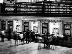 Grand Central Terminal-1 (estellerobertnyc) Tags: grandcentralterminal manhattan nyc newyork usa blackandwhite noiretblanc