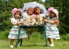 Sommerhochsitz fr Kindergartenkinder ... (Kindergartenkinder) Tags: dolls himstedt annette kindergartenkinder essen park gruga garten kind personen annemoni sanrike milina tivi