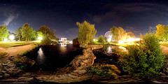 Volksfest @ Friedrichsau (guenther_haas) Tags: panorama lake germany lago deutschland hotel see pano fair ferriswheel bigwheel riesenrad ulm volksfest equirectangular 306 kugelpanorama friedrichsau ricohthetas