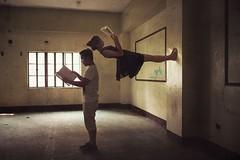 Wall (Charles Jayson Tajonera Bio) Tags: life people nature dark upsidedown fineart dream surreal books conceptual learn levitate strive
