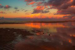Pastiche 33/52 - Explored (jrobblee) Tags: sunset clouds sea ocean beach reflections newbrunswick canada zeiss landscape coast sky shore maritime