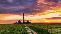 Colourful sunset #HSS (Jenner Ka) Tags: westerhever leuchtturm lighthouse hss sliderssunday