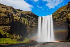 Iceland, Skogafoss - Golden Falls (Nomadic Vision Photography) Tags: travel jonreid nomadicvisioncom longexposure rainbow waterfall skogafoss skogar iconic southiceland