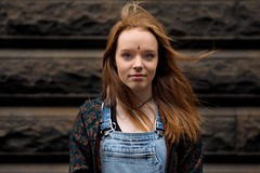 Kealy (Peter Grifoni) Tags: peter grifoni gtpete gtpete63 the human family group street stranger portrait portraiture olympus omd em1 zuiko 45mm f18 melbourne city swanston kealy red hair dancer
