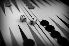 Backgammon (cuckove) Tags: cuckove canon 24mm game backgammon tabla monochrome