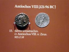 Greek Silver Coin (Hydra5) Tags: coin silver greek royalontariomuseum rom tetradrachm