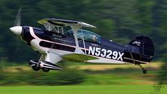 Private Pitts S-2B Special N5329X (SjPhotoworld) Tags: belgium belgi schaffen diest ebdt dac flyin airfield civil n5329x pitts s2b special lightaircraft aerotek ames mcnamaras panning speed aircraft plane planespotting canon challenge