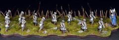 Dol Amroth Men-at-Arms (brush.stroke77) Tags: dol amroth gw gamesworkshop lotr lordoftherings swan knights customposes menatarms pikemen