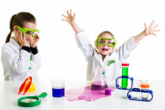 Yeah Science! (tltichy) Tags: amelia backtoschool bakingsoda beaker blue celebrate chemistry experiment foam foaming girls glasses goggles green highkey indoors kids kit labcoats learning magnifyingglass measuringcup natasha primaryscience purple red safety science studio vinegar water white yellow