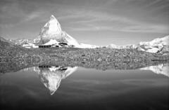 Stillness... (Vitaly Sergeevich) Tags: zermatt switzerland matterhorn mountatins alps analogue film ilford stillness tranquility calm serenity peace calmness