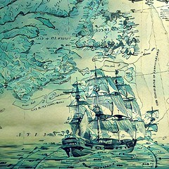 Maritime Grime (Thought Knots Design) Tags: instagramapp square squareformat iphoneography uploaded:by=instagram thought knots design atlantic ocean sea maritime grime maritimes water map shore shoreline seascape schooner sail sailing photoshop graphic graphics seafood ship boat cartography blue boats
