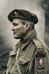 LWC_0624 (Man with a Hat) Tags: northnorfolkrailway vintage nnr railway wwii 1940s soldier uniform steam beret