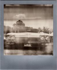 Cadillac (Martin PEREZ 68) Tags: cadillac car vintagecar vintage noiretblanc nb bw instant impossibleproject impossible instantfilmbw polaroid polaroidsx70 sx70 bwsx70
