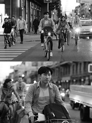 [La Mia Citt][Pedala] con il BikeMi (Urca) Tags: milano italia 2016 bicicletta pedalare ciclista ritrattostradale portrait dittico nikondigitale mir biancoenero blackandwhite bn bw 889108 bikemi bikesharing