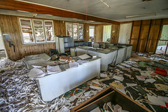 Messy Office (Voodoooz) Tags: urbex urban explore abandoned drain brisbane city queensland australia tourist water street river house me red blue white tree sky night art light summer old hot sexy babe travel tourer adventure camera building extreme danger photography flashback indoor architecture beam outdoor