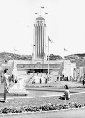 9; Central Tower and Fountain, Centennial Exhibition - Circa 1940 (Wellington City Council) Tags: wellington historicwellington 1800s 1900s 1950s