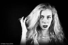 Francesca (B&W) (Fabio Tacca) Tags: francesca bn studiofotografico157milano francescasusannacionti studio inaugurazione salaposa ritratto biancoenero sguardo occhi posa modella portrait blackandwhite eyes laying look model nikon nital nikond3300