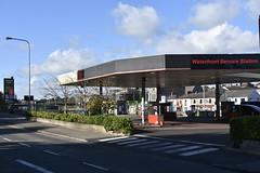 Apple Green, Drogheda Louth Ireland. (EYBusman) Tags: apple green petrol gas gasoline filling service station drogheda county louth republic ireland waterfront texaco eybusman