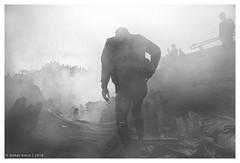 "Fury & Aftermath (Rahat ""ArchQuad"" Amin) Tags: documentary street disaster blackandwhite lifestyle archquad dhaka bangladesh"