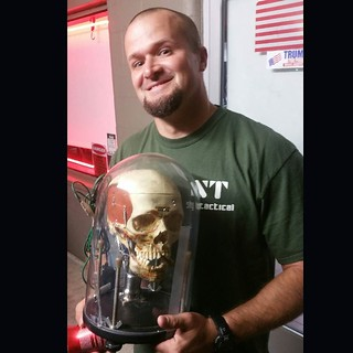 WINNER! Long time always there for me homeboy Chris Sederquist gets Frankenstein's Monster Skull light (real) . Take good care of it Chris. Only one of its kind..