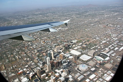 Downtown Phoenix From the Air (craigsanders429) Tags: phoenix downtownphoenix aboardaplane airbus319 valleyofthesun downtown buildings tallbuildings skyscrapers departingaircraft cities