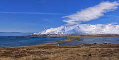 cruising along Iceland's Northern coast (lunaryuna) Tags: iceland northiceland landscape panorama seascape coast coastline northatlantic tidallaguna mountain snow snowcappedmountain sky clouds cloudscape landbridge spring season seasonalchange lunaryuna