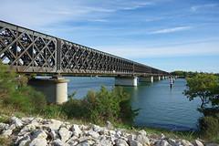 Pont SNCF entre Avignon et Villeneuve (bernarddelefosse) Tags: pont cheminedefer rhne avignon vaucluse villeneuvelezavignon gard
