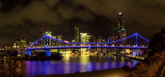 Story Bridge Blue (sire_harvey) Tags: storybridge brisbane brisbaneriver river bridge night longexposure blue city cityscape