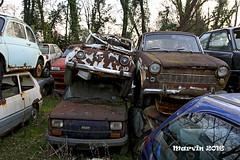 Auto in castigo (marvin 345) Tags: fiat fiat500 fiat1100 veneto italy italia italiancar worldcars abbandono abandoned abandonment auto autoabbandonate cars car autoepoca