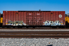 (o texano) Tags: houston texas graffiti trains freights bench benching tank chub