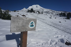 Mt. Hood (mick mcd) Tags: hood oregon snow zigzag canyon sign pct pacificcresttrail timberline