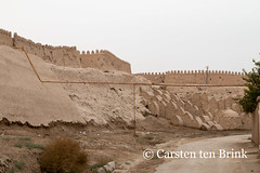 Khiva: south wall cemetery area (10b travelling) Tags: 10btravelling 2015 asia asien carstentenbrink centralasia iptcbasic ichankala ichonqala khiva silkroad sovietunion ussr uzbek uzbekistan xiva cemetery graves pipes south tenbrink thestans wall