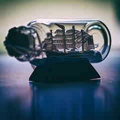 Voyage - miniature bottleship (christiane.harrison) Tags: macromondays backlit bottleship journey nikcollection