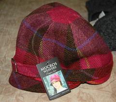 Irish Red Plaid Flapper Hat
