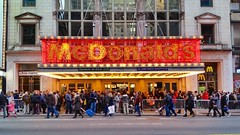 McDonald's On 42nd Street (Joe Shlabotnik) Tags: cameraphone nyc newyorkcity sign marquee manhattan mcdonalds timessquare 2014 faved zeroviewsonefave galaxys5 december2014