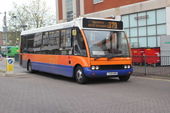 Centrebus Ltd . Stevenage , 385 T299BNN . Hertfordshire . Wednesday 19th-November-2014 . (AndrewHA's) Tags: nottingham bus route solo stevenage hertfordshire hertford 299 385 379 optare centrebus m920 t299bnn