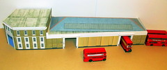 RTs at Barking (kingsway john) Tags: barking bus garage diorama model scale 176 kingsway models card kit rt dms london transport building oo gauge londontransportmodel miniature