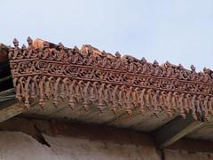 Superb detail on roof edging (cyclingshepherd) Tags: wood roof detail building portugal faro woodwork rust iron december cast rusting ironwork algarve wrought 2014 edging s100fs cyclingshepherd