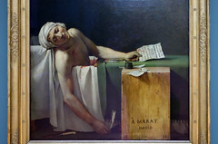 David, The Death of Marat, lower half