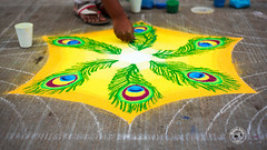 Kolam Competition 2014 (BommiSekar) Tags: portrait beach pondicherry kolam rangoli pondy gopi bommi