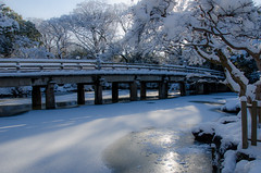 Shusui-Tei with snow (Kyoto Gosho) /  (Kaoru Honda) Tags: city morning winter snow nature japan landscape japanese nikon kyoto traditional             kyotogosho   shusuitei d7000
