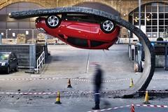 Photo (estherase) Tags: london car upsidedown stranger peopleidontknow art publicart southbank strangers print print2016 postcard