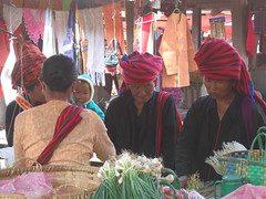 Colorful Tribal Outfits at Market