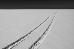 Endless (Mindaugas Buivydas) Tags: road winter bw lake snow mood moody delta minimal minimalism lithuania endless lietuva nemunasdelta krokulanka krakerortherlank oddscape nemunasdeltaregionalpark lessismorethebest