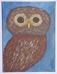 Odd Fish (Klusenstein) Tags: owl acryl eule realismus phantastischer