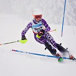 Megan Kardoes racing Slalom at Red Mtn PHOTO CREDIT: Lesley Chisholm